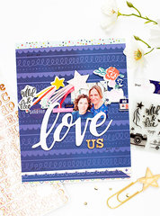 Love Us Layout with Star Gazer Collection by American Crafts
