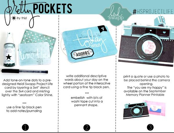 Pretty Pocket Instruction Series featuring Becky Higgins/Heidi Swapp Project Life