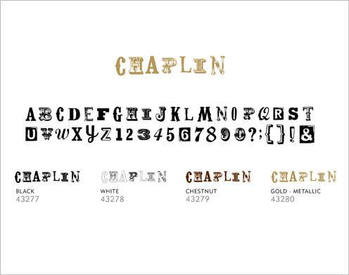 Minimarks rub-on transfers - Chaplin