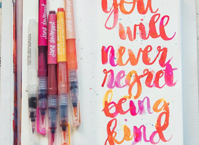 Hand Lettering with Jane Davenport's Mermaid Markers