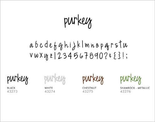 Minimarks rub-on transfers - Purkey