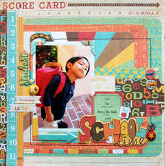 "Crate Paper ""Score Card"" layout by Mou Saha"