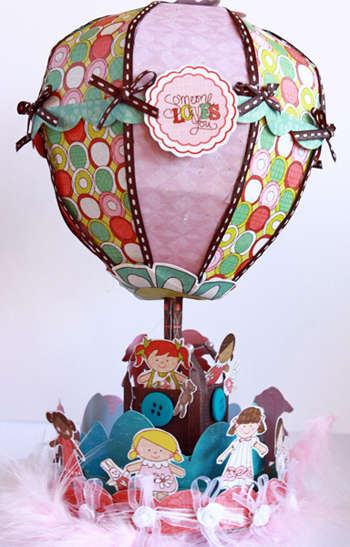 """Crate Paper - Paper Doll Collection """"Hot Air Balloon"""" Project by Larissa Albernaz"""