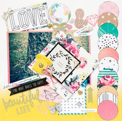LOVE this LO featuring the Maggie Holmes Shine Collection by Crate Paper for American Crafts