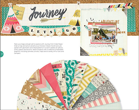 Brand New Journey Collection from Crate Paper for American Crafts