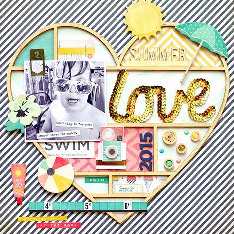 Summer Love Poolside Layout w/Jen Chapin