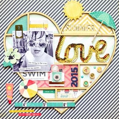 Summer Love Poolside Layout w/Jen Chapin