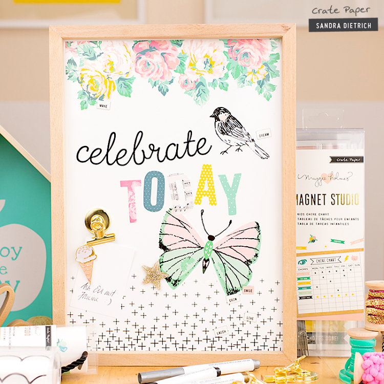 Dazzling Wall Decoration with Magnet Studio