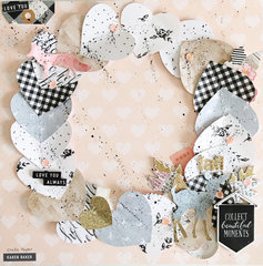 Layered Wreath Layout