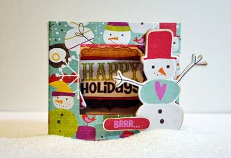 "Crate Paper ""BRRR...."" 3D card by Jen Chesnick"