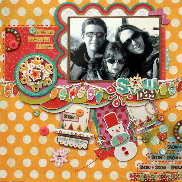 "Crate Paper ""Snow Day"" layout by Larissa Albernaz"