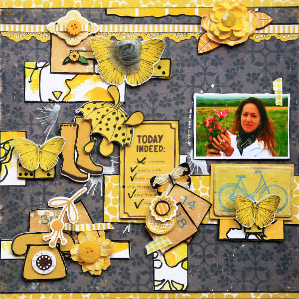 "Crate Paper ""Today Indeed"" layout"