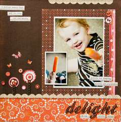 Delight using the Pink Plum Collection from Crate Paper