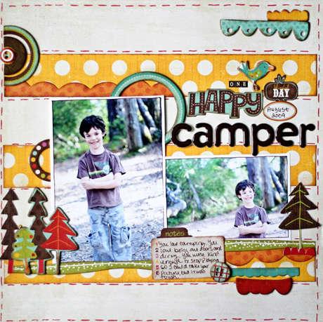 """Crate Paper """"Happy Camper"""" layout by Lori Gentile"""