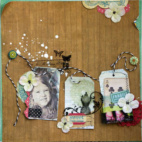 "Crate Paper ""sweet Little Thing"" Layout by Lucy Edson"