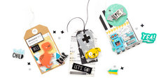 Variety of kid-friendly tags made with the Cool Kid Collection