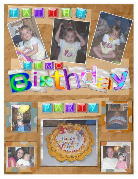 Faiths Elmo Birthday Party