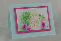 Watercolor Gate Card