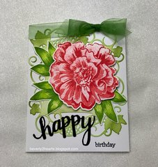 Camellia Build A Flower Card