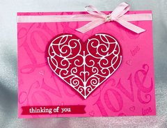Thinking of you Heart card