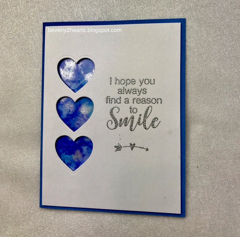 Alcohol Ink Card Smile