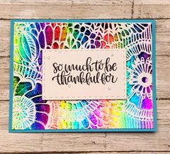 Deco Foil Thankful Card