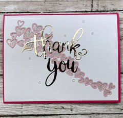 Thank You with a Heart Wave Card