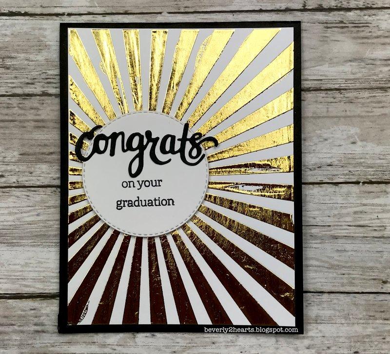 Shiny Graduation Card