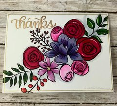 Floral Coloring Card
