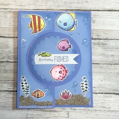 Birthday Fishes Flip It Card