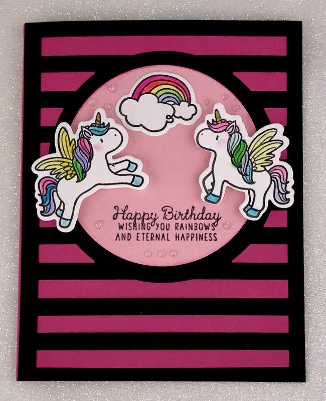 Rainbows and Unicorns Birthday Card