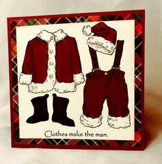 Clothes Make the Man Christmas Card Main