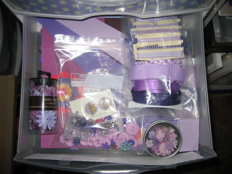 Purple drawer
