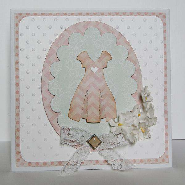 card with the dress