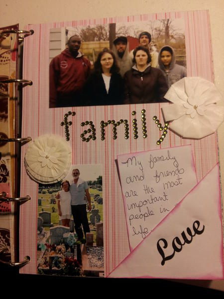 smash book- important people in my life