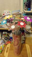 chipboard bouquet of flowers