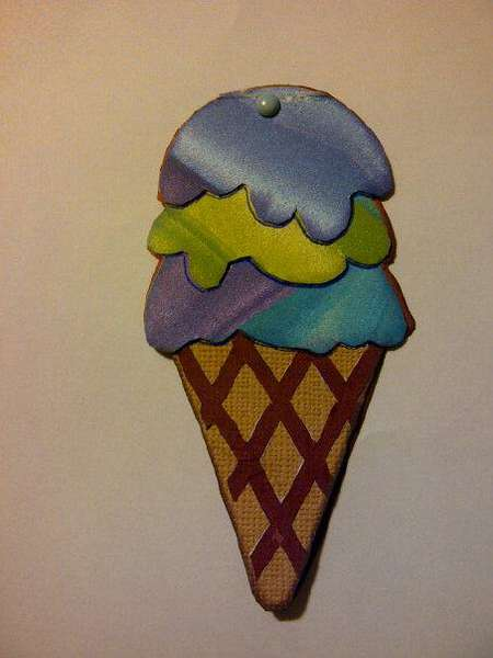 ice cream cone card