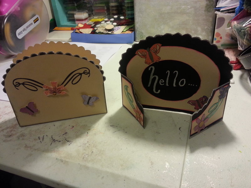 hello card with case