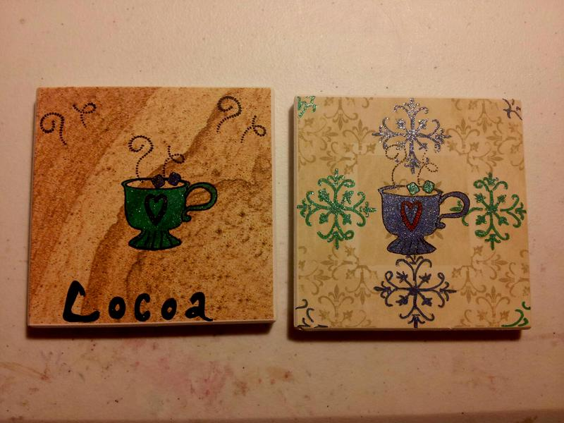 altered ceramic tiles