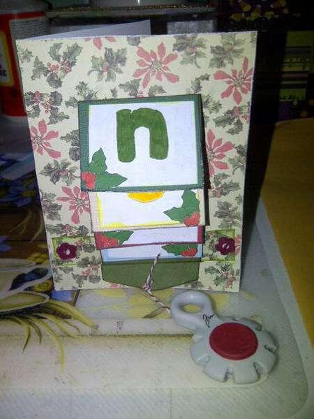 noel slider card