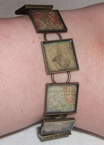 Scrapbooked Vintage Look Bracelet