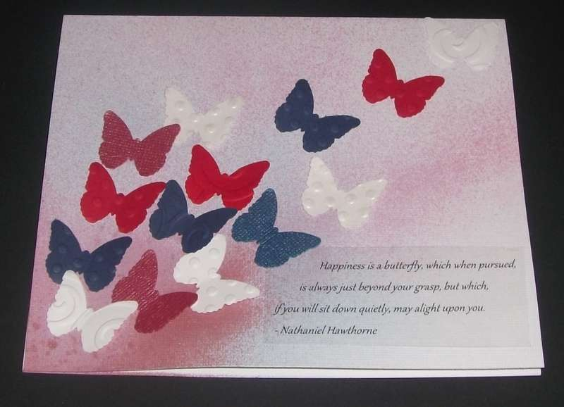 Butterfly Birthday Series - Red, White and Blue Birthday