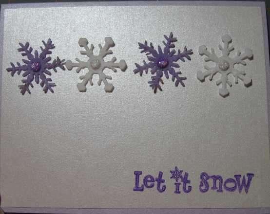 Christmas 2008 Series Purple Snowflakes
