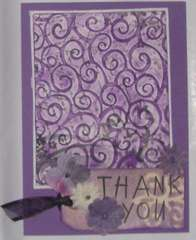 Thank You Card - purple on white