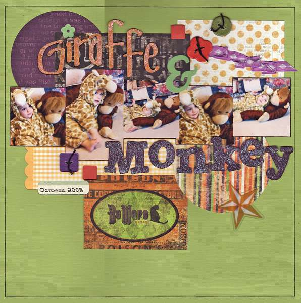 Giraffe & Monkey