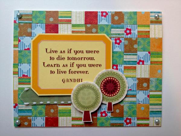 Live & Learn card