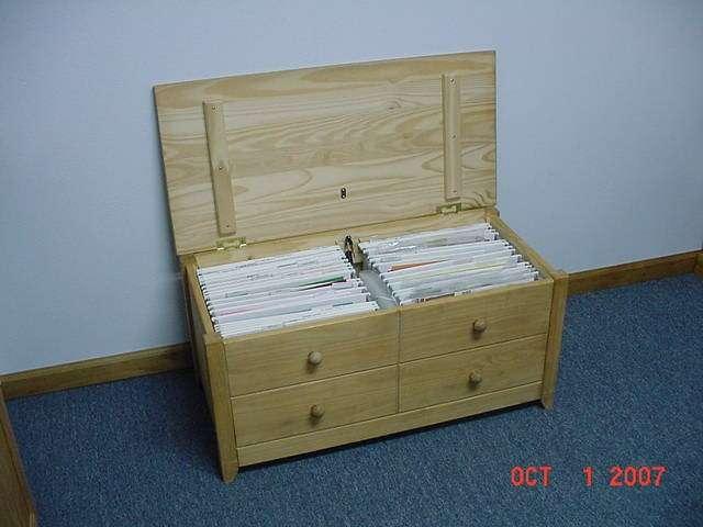 Wood 12x12 Paper Storage Box