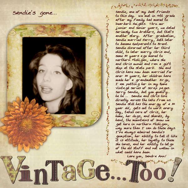 Sandie's Gone Vintage, Too!