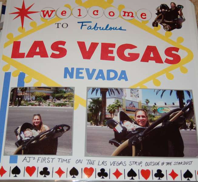 My son's first time in Las Vegas (visiting maw maw & pop pop)