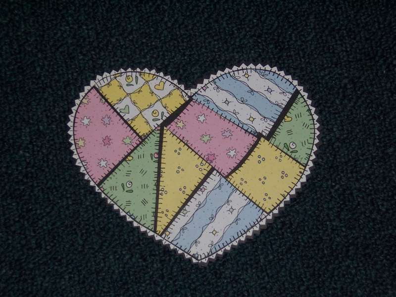 Quilted Heart Paper Piecing